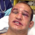 Foto de Junior Cigano dos Santos no hospital