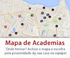 Mapa de academias de Jiu Jitsu em Fortaleza