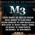 Metamoris M3 tem revanche histórica entre Eddie Bravo e Royler Gracie